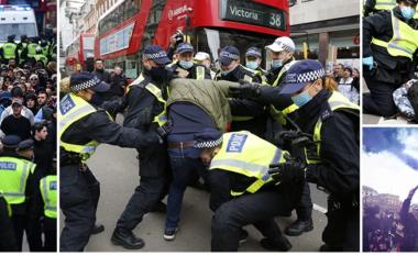 Trazira në Londër, mijëra persona në shesh kundër masave anti-Covid