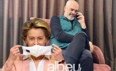 Rama telefonon këmbë përmbi këmbë Von Der Leyen dhe jep lajmin e mirë (FOTO LAJM)