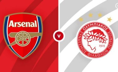 Arsenal-Olympiacos, formacionet zyrtare