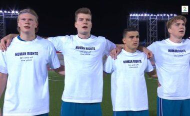 """""""Të drejtat e njeriut, brenda dhe jashtë fushës"""", Haaland me shokë e nisin me mesazh ndaj FIFA-s rrugëtimin për në Botëror"""