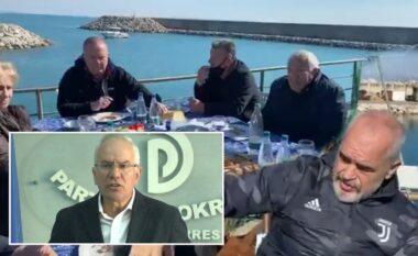Rama ia shtron me peshkatarët në Durrës, Xhaferaj e ironizon: Vetëm kur vjen ti bashkia pastron qytetin