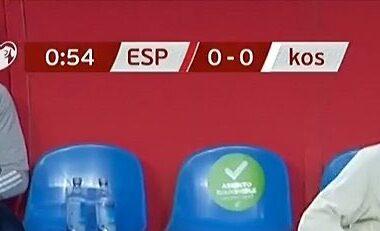 Nuk kanë fund skandalet e Spanjës, TV shkruan emrin e Kosovës me shkronja të vogla (VIDEO)