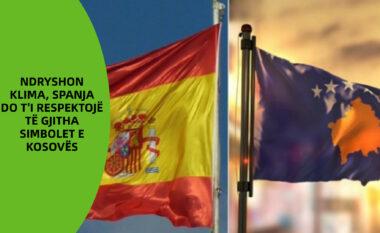 Ndryshon klima, Spanja do t'i respektojë të gjitha simbolet e Kosovës