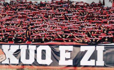 """Nuk u lejuan në stadium, TKZ shpalonin banderolën emocionuese në """"Air Albania"""""""