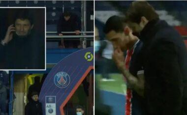 I grabitën shtëpinë, momenti kur  Pochetino dhe Leonardo informojnë Di Marian gjatë ndeshjes (VIDEO)