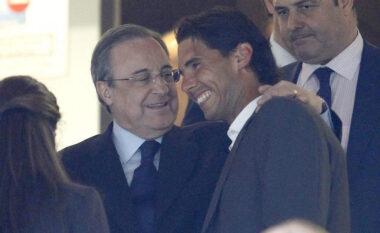"""Lidhje të ngushtë me Perez, Nadal mund të përurojë """"Santiago Bernabeu-n"""" e ri me një ndeshje kundër Federerit"""