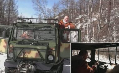 """Putin drejton """"bishën"""" ushtarake, nxjerr për shëtitje në malet mbuluar me borë ministrin e Mbrojtjes (VIDEO)"""