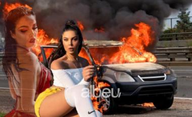 """I shkrumbuan në zjarr makinën luksoze, dyshimet e policisë për """"Range Rover-in"""" e Françeska Jaçes"""