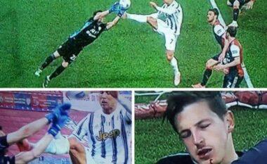 Ndërhyrja horror e Ronaldos po bën xhiron e rrjetit, shpëton vetëm me karton të verdhë (VIDEO)