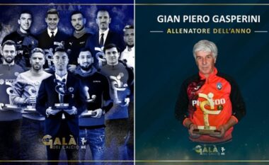 """Në Gran Gala del Calcio"""" zgjidhen më të mirët: Ronaldo në fushë, Gasperini trajner, klubi dhe formacioni"""