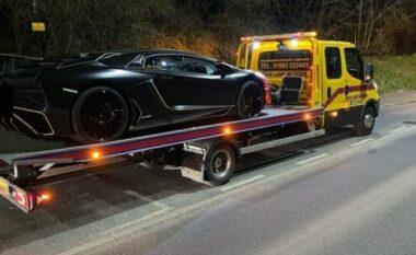 I kishte borxh rreth 500 euro tatim shtetit, autoritetet në Angli ia marrin Lamborghinin