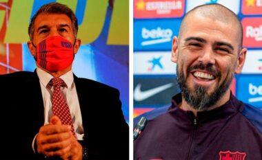 Valdes refuzon ftesën e Laportas për t'u rikthyer te Barcelona