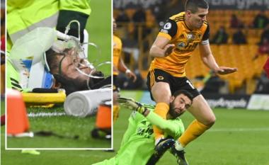 Momente frike në Liverpool – Wolves, portieri pëson dëmtim horror dhe largohet me maskë oksigjeni (VIDEO)