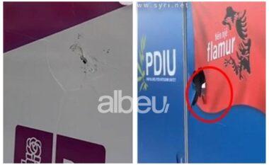 Theu me gurë xhamat e zyrave elektrorale të PS dhe PDIU, i riu publikon videon