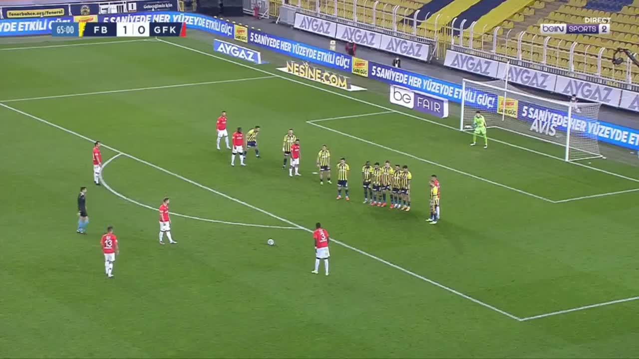 E pret por më pas futet me gjith top në rrjet, sa i pafat është portieri i Fenerbahces (VIDEO)