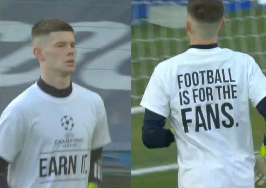 Futbollistët veshin fanellën dhe dalin hapur kundër Superligës Europiane (FOTO LAJM)
