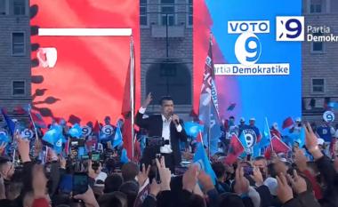 Basha mbyll fushatën në Tiranë: Ndryshimi është çështje orësh, fiton Shqipëria (VIDEO)