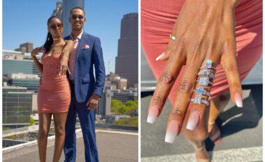 Po bën xhiron e rrjetit, propozimi për martesë me 5 unaza diamanti (VIDEO)