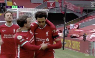 """Liverpool përmbys rezultatin në """"frymën e fundit"""" ndaj Aston Villas (VIDEO)"""
