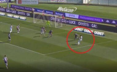 Topi merr trajektore të pabesueshme! Morata shënon golin e vitit në Itali (VIDEO)
