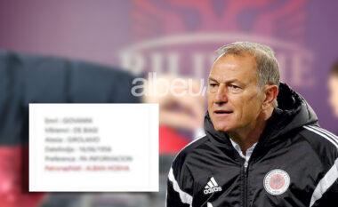 """PS nuk """"fal"""" as Gianni De Biasin, zbulohet patronazhisti i ish-trajnerit të Kombëtares (FOTO LAJM)"""