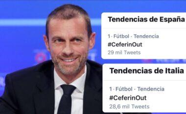 """""""CeferinOut"""", tifozët në Itali dhe Spanjë kërkojnë dorëheqjen presidentit të UEFA-së (FOTO LAJM)"""