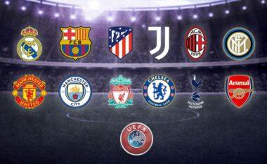 UEFA shtyn vendimin për sanksionimin e 12 klubeve themeluese të Superligës Evropiane