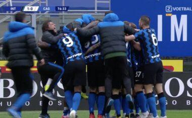"Interi ""marshon"" drejt titullit, mposht minimalisht Cagliarin (VIDEO)"