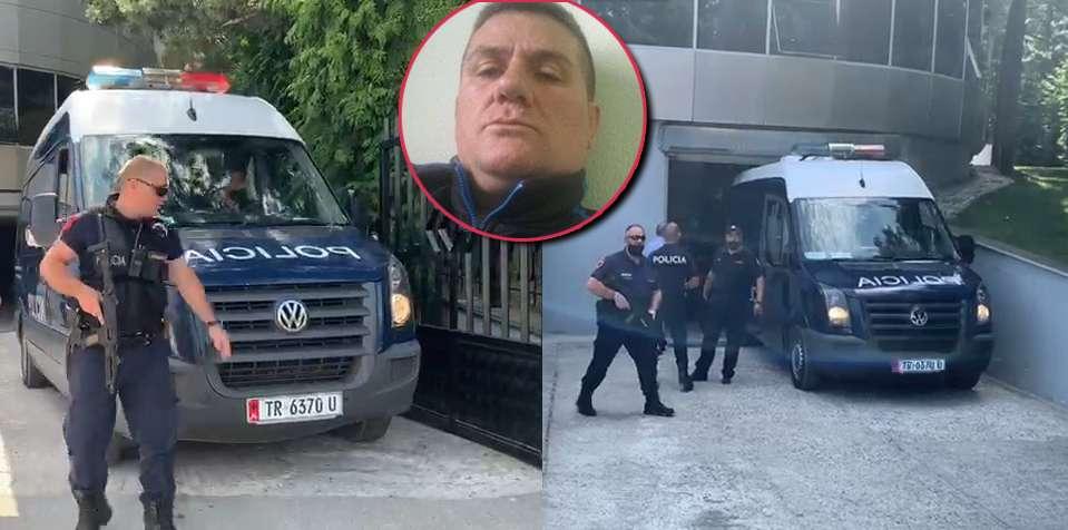 """Nën masa të rrepta sigurie, mbërrin në Gjykatën e Korçës i """"forti"""" i Çoles"""