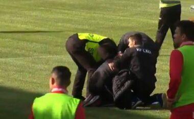 SKANDAL/ Në Laç goditet me shishe pas kokës zëvendëstrajneri i Kombëtares (VIDEO)