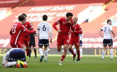 Liverpool i falet super golit të Arnold, fiton me përmbysje ndaj Aston Villa (VIDEO)
