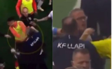 Pamje skandaloze, momenti kur trajneri i Llapit godet me grusht lojtarin e Ballkanit (VIDEO)