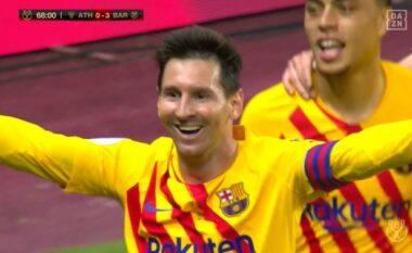 Aksion spektakolar, Messi shënon golin e tretë (VIDEO)