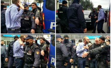 Gazment Bardhi përplaset me policinë, i kërkon efektivit procesverbalin