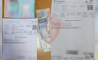 Teste Covid të falsifikuara, ndalohen dy shtetas në Rinas