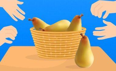 Kemi 4 dardha dhe 4 persona, secili merr nga një! Si ka mundësi që në fund mbeti një dardhë në shportë?