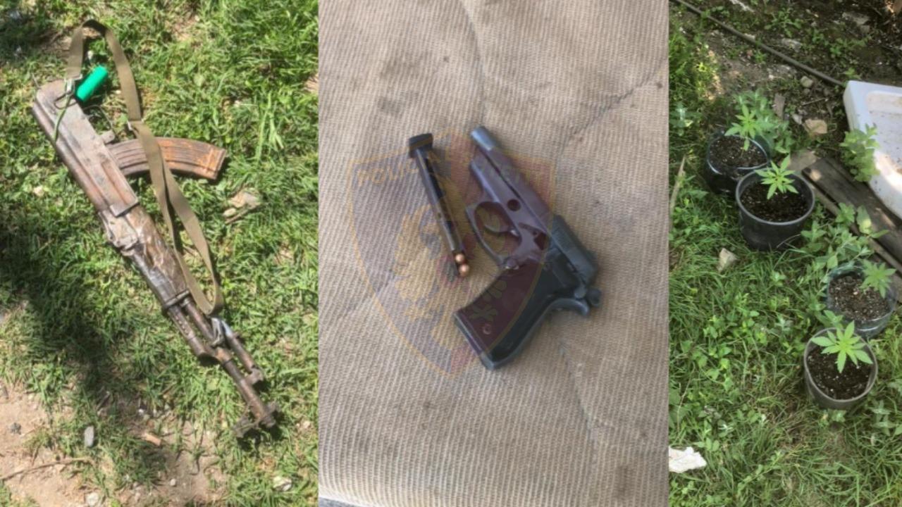 Drogë, armë e municion luftarak: Arrestohen tre persona në Kurbin, dy prej tyre adoleshentë