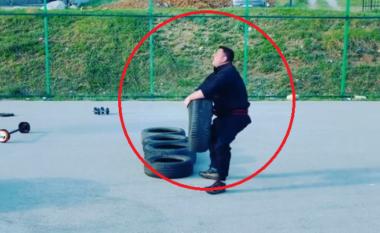Do të habiteni! Deputeti shqiptar fluturon në ajër gomat e makinave(VIDEO)