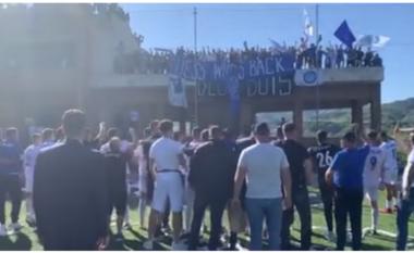 """Rikthehet pas 9 vitesh në Superligë, shihni festën e """"çmendur"""" të lojtarëve dhe tifozëve të Dinamos (VIDEO)"""