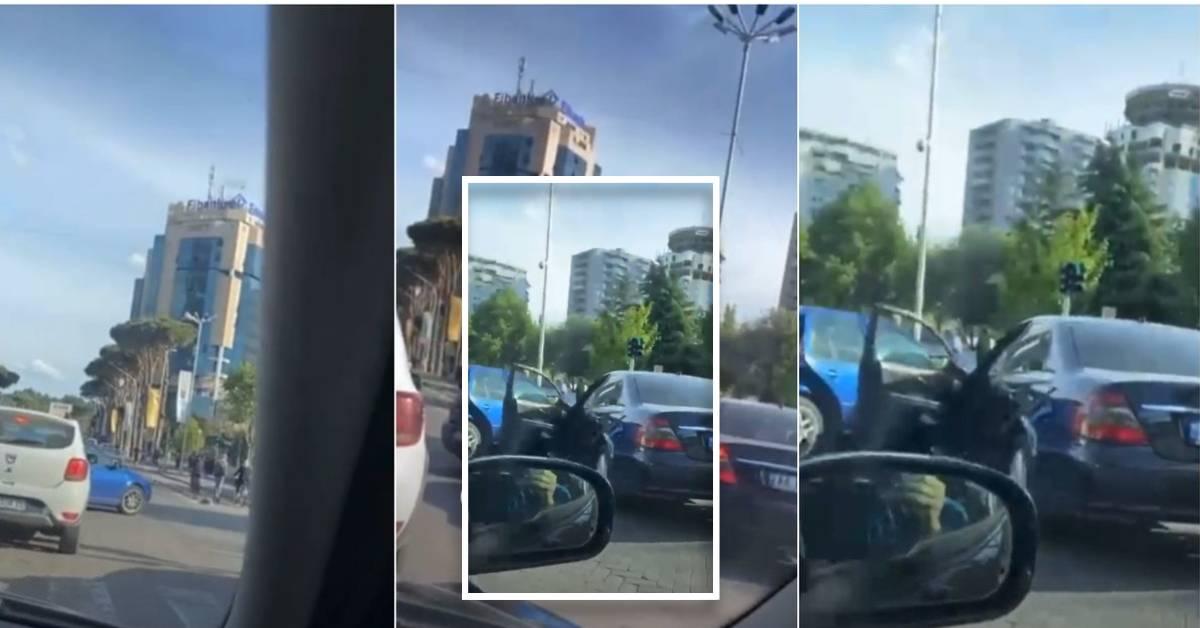 """""""Golf""""-i futet keq në Tiranë, """"Benz""""-i ia mat drejt e në kokë"""