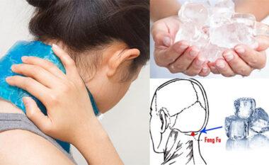 Përfitimet që merrni kur vendosni një kub akulli në qafë