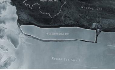 Ajsbergu më i madh në botë ndahet nga Antarktida