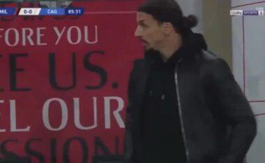 Nuk e mban vendi, shikoni si e përjeton zhgënjimin e Milanit Ibra (VIDEO)