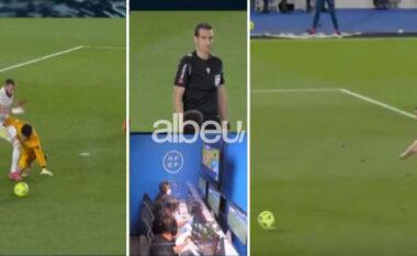 """Kur teknologjia """"prish"""" futbollin, topin kalon nga këmbët e Benzema në të Rakitic për të përfunduar në rrjetë (VIDEO)"""