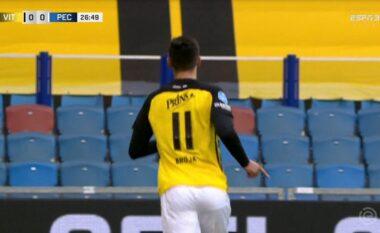 """Broja thyen """"akullin"""", shënon gol për Vitessen (VIDEO)"""