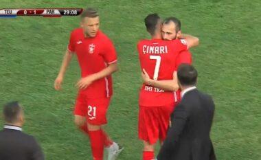 """Partizani """"zbret me këmbë në tokë"""" Teutën dhe merr kreun (VIDEO)"""