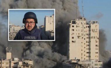 Gazetari po raportonte LIVE në Gaza, ndërtesa pas tij shembet nga sulmet izraelite (VIDEO)