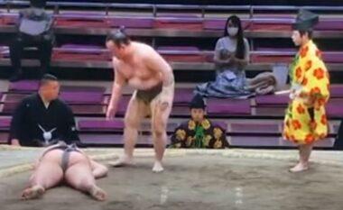 """E RËNDË/ Mundësi ndërron jetë pasi dëmton kokën gjatë ndeshjes në """"Sumo"""" (VIDEO)"""
