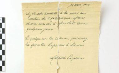 Shkencëtarët hetojnë letrën e hedhur në det pak orë para tragjedisë së
