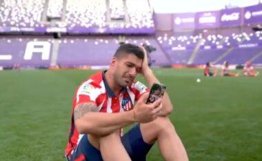 """Triumfi me Atleticon në La Liga, Suarez """"shpërthen"""" në lot (VIDEO)"""
